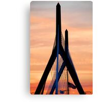 Zakim bridge Boston Canvas Print