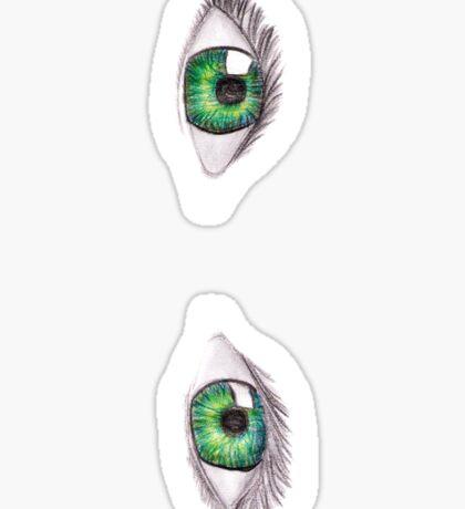Green eyes Sticker