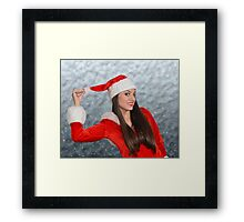 Christmas girl Framed Print