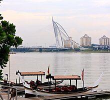 Boats On the River - Putrajaya, Malaysia.  by Tiffany Lenoir
