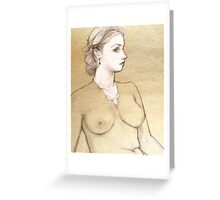 Alexandra, dipped in gold Greeting Card