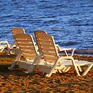 Beach chairs by Elena Elisseeva