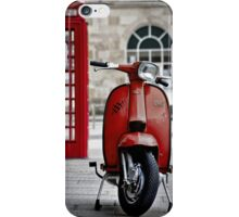 Italian Red Lambretta GP Scooter iPhone Case/Skin