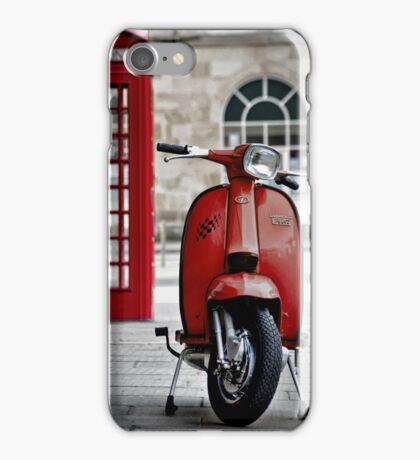 Italian Red Lambretta GP Scooter iPhone Case/Skin