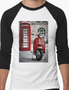 Italian Red Lambretta GP Scooter Men's Baseball ¾ T-Shirt