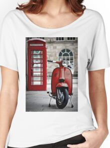 Italian Red Lambretta GP Scooter Women's Relaxed Fit T-Shirt