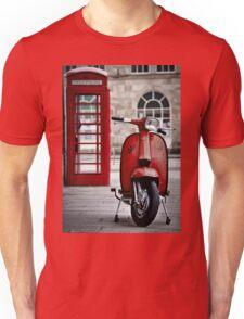Italian Red Lambretta GP Scooter Unisex T-Shirt