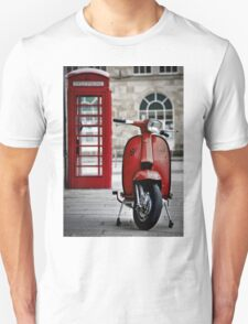 Italian Red Lambretta GP Scooter Unisex T-Shirt