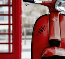 Italian Red Lambretta GP Scooter Sticker