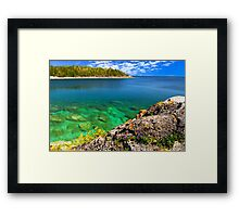 Scenic lake view Framed Print