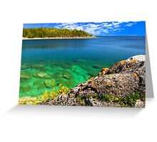 Scenic lake view Greeting Card