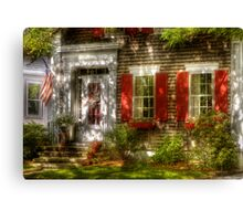 Typical American house Canvas Print