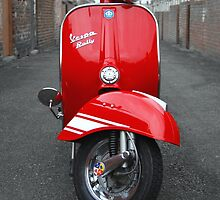 Red Vespa Rally 200 by AJ Airey