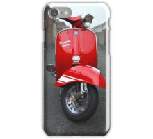 Red Vespa Rally 200 iPhone Case/Skin