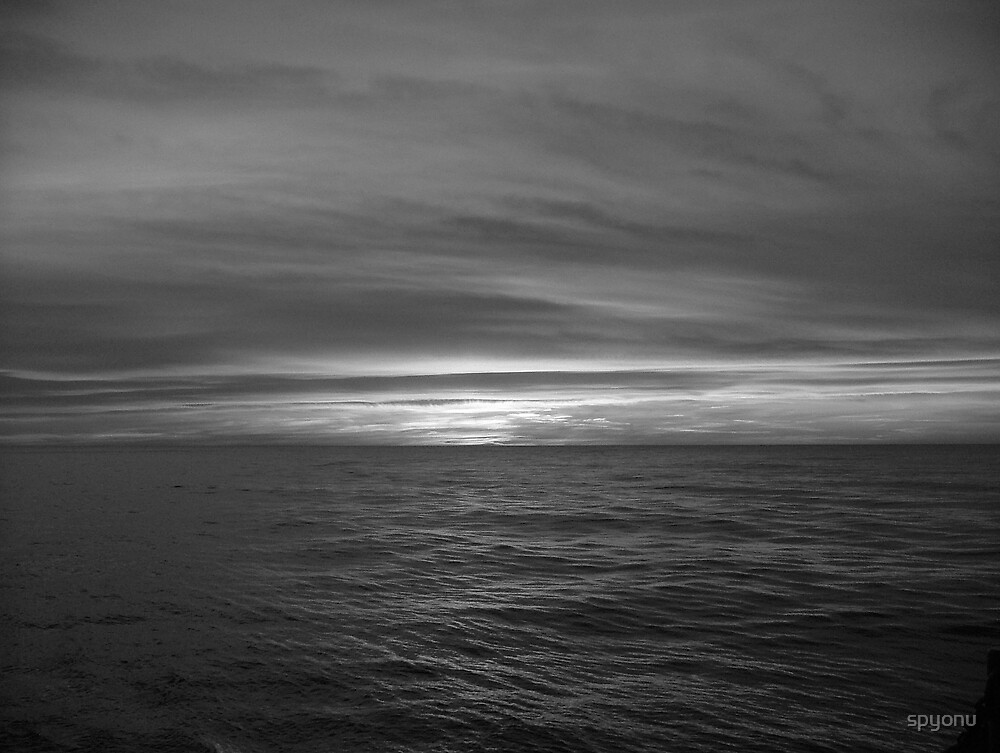 Sunset at Sea by spyonu