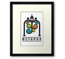 Metapán Line Framed Print