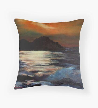 Giant causeway/Ireland/ oil painting Throw Pillow