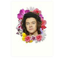 Harry Styles - Floral Art Print