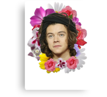 Harry Styles - Floral Canvas Print