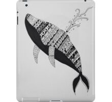 Abstract  Ink Drawn Whale iPad Case/Skin