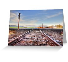 Old set of tracks  Greeting Card