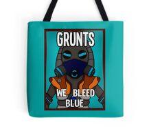 Grunts: We Bleed Blue Tote Bag