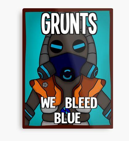 Grunts: We Bleed Blue Metal Print