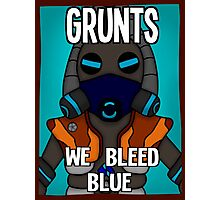 Grunts: We Bleed Blue Photographic Print