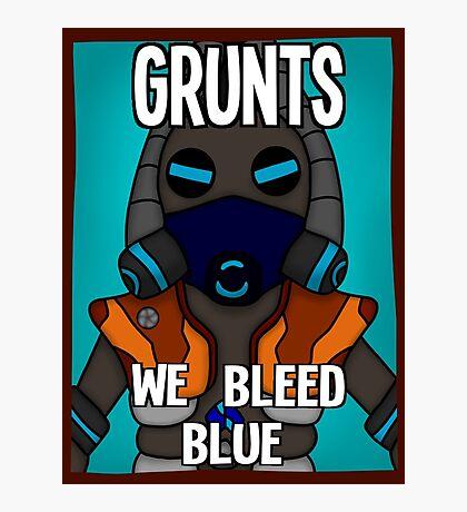Grunts: We Bleed Blue Photographic Print