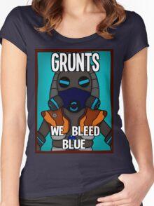 Grunts: We Bleed Blue Women's Fitted Scoop T-Shirt