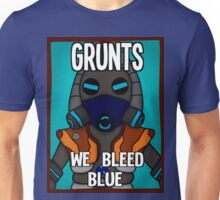 Grunts: We Bleed Blue Unisex T-Shirt