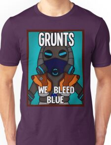 Grunts: We Bleed Blue Unisex T-Shirt