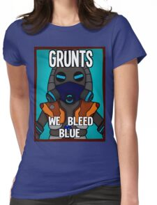Grunts: We Bleed Blue Womens Fitted T-Shirt