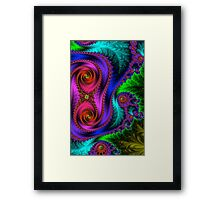 Green Leaf Fractal  Framed Print