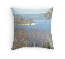 Autumn Lake Timiskaming Ontario Canada Throw Pillow