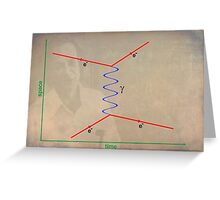 Feynman Diagram Greeting Card
