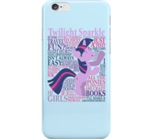 The Many Words of Twilight Sparkle iPhone Case/Skin