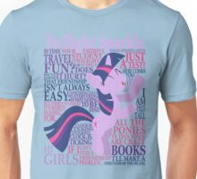 The Many Words of Twilight Sparkle Unisex T-Shirt