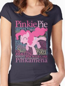 The Many Words of Pinkie Pie Women's Fitted Scoop T-Shirt