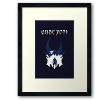 Skyrim Daedra Theme Minimalist Framed Print