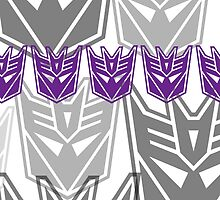 The Iconic Decepticons (white) by Vitalitee