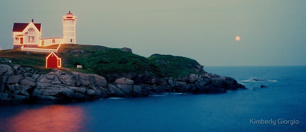 Nubble at Dusk by Kimberly Giorgio