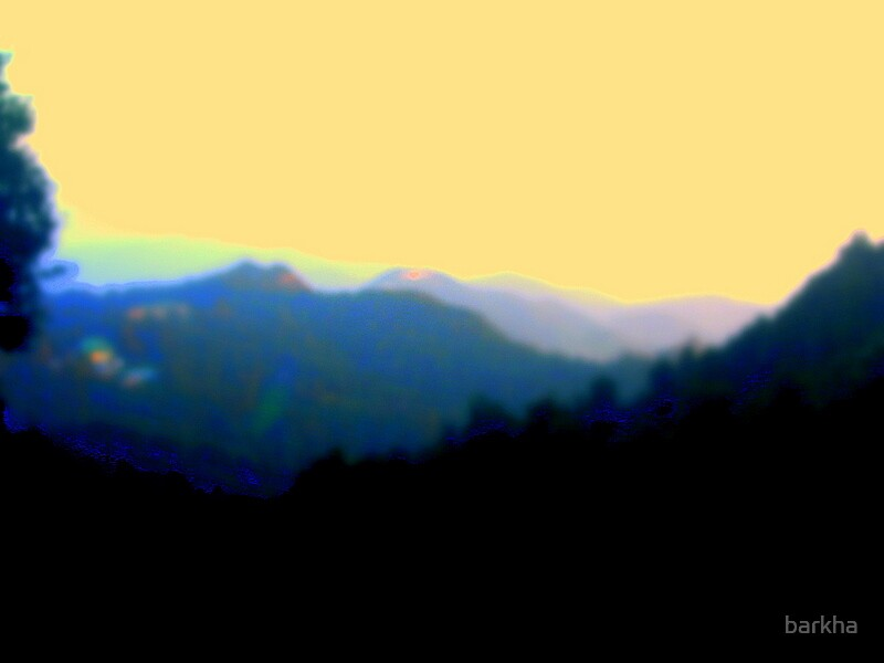 Dark Mountains by barkha