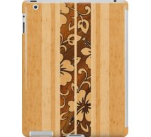 Pupukea Hawaiian Faux Koa Wood Surfboard  iPad Case/Skin