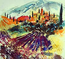 watercolor provence by calimero