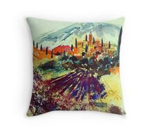 watercolor provence Throw Pillow