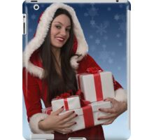 Christmas girl with gifts iPad Case/Skin
