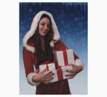Christmas girl with gifts One Piece - Long Sleeve