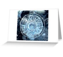 Polar bear, starry skies compass Greeting Card