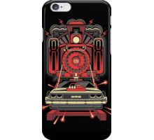 BTTF Back To The Future III Time Machine Delorean with Train iPhone Case/Skin